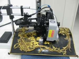 Analysis on gilding on furniture (Getty Conservation Institute, California, USA).